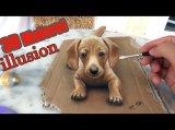 3D Malerei als optische Täuschung! Unglaubliche Illusion!! ❤ Streichle mich