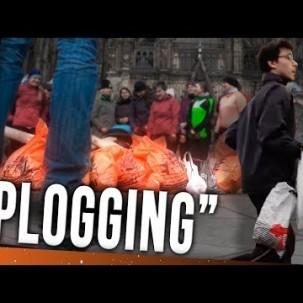 Joggen und Plastikmüll sammeln // PLOGGING Deutsch