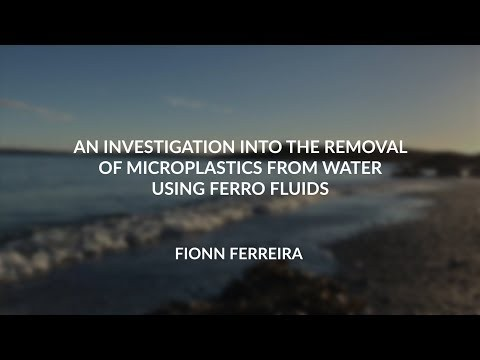 An investigation into the removal of microplastics from water using ferro fluids (V2)